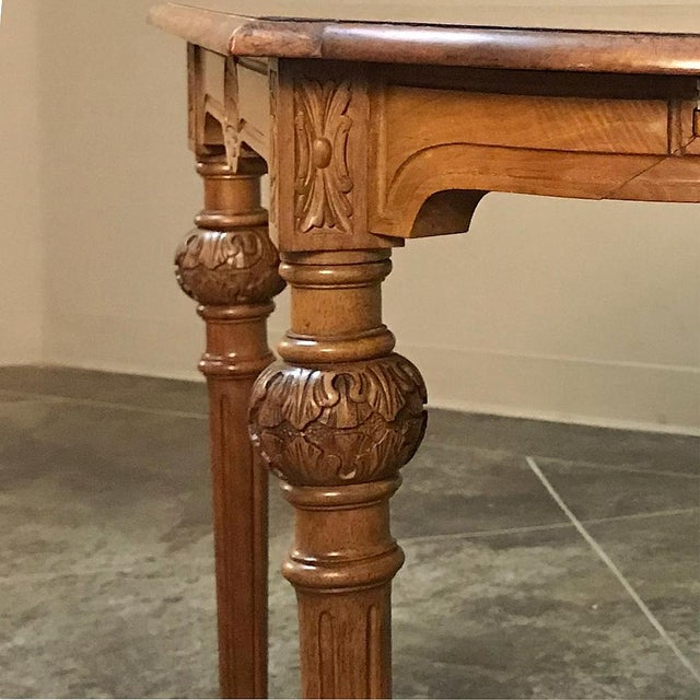 Chestnut 19th Century French Neoclassical End Table Ca. 1880 For Sale - Image 8 of 12