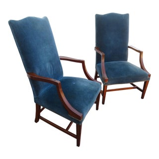 Hepplewhite Solid Mahogany Lolling Chairs - a Pair For Sale
