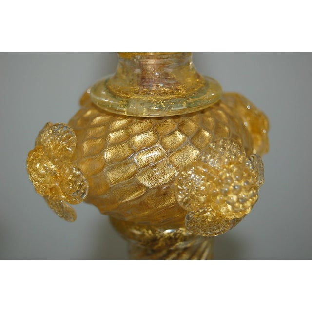 Marbro Murano Candelabra Glass Table Lamps Gold For Sale In Little Rock - Image 6 of 10