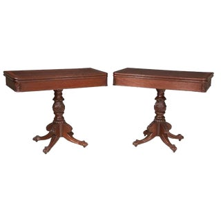 19th Century Regency Style Mahogany Card Tables - a Pair For Sale