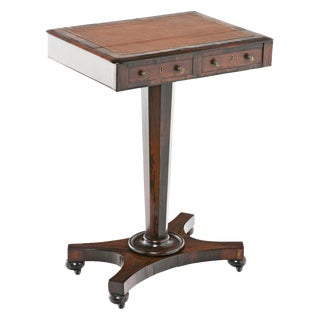 Early 19th Century English Regency Rosewood Work Table For Sale