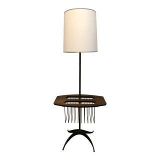 Tony Paul Mid Century Modern Magazine Side Table Floor Lamp, 1960s For Sale