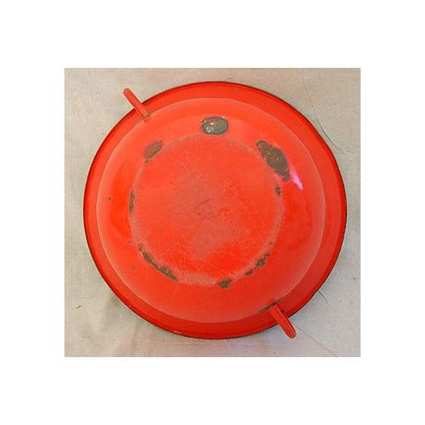 Jumbo Red European Enamelware Harvest Bowl - Image 8 of 8