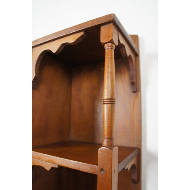 20th Century Early American Style Antique Pine Wall Hanging Medicine Cabinet For Sale - Image 6 of 13