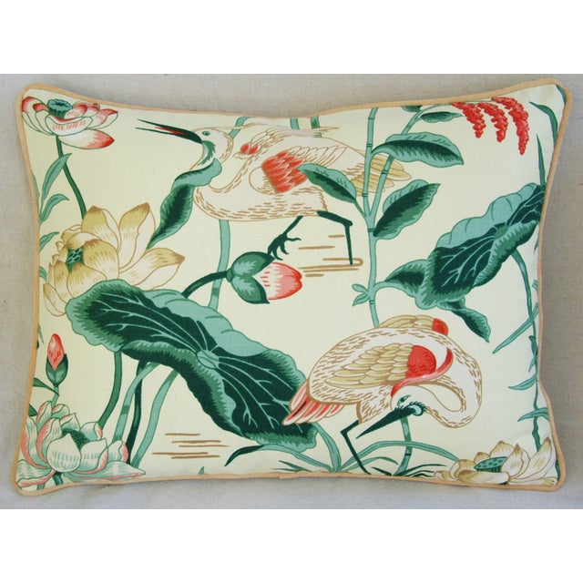 Egrets & Lotus Blossom Pillows - a Pair - Image 4 of 11