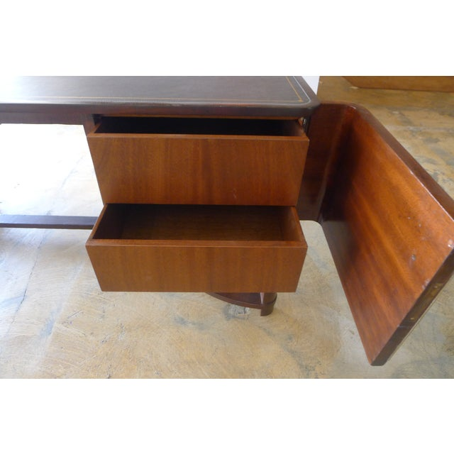 Restored Expansive Modern French Art Deco Executive Desk - Image 5 of 13