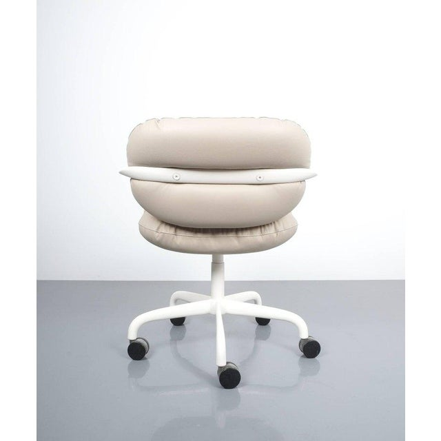 1970s Andrew Morrison and Bruce Hannah for Knoll Office Chair Beige Leather, 1975 For Sale - Image 5 of 8