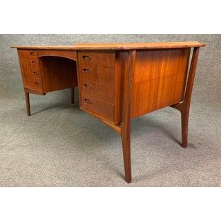 Vintage Scandinavian Modern Teak Executive Desk Preview