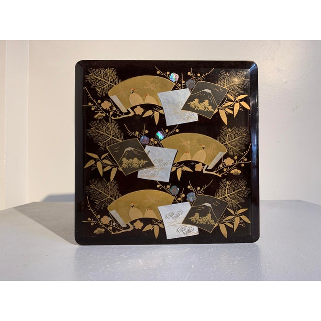 Early 20th Century Japanese Lacquer Two Tiered Box, Jubako, Meiji Period For Sale - Image 5 of 9