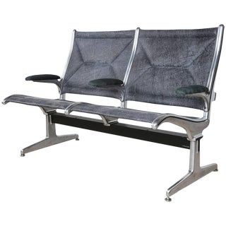 1962 Tandem Sling by Eames for Herman Miller, Restored in Edelman Leather For Sale