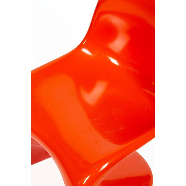 1960s Orange Verner Panton S-Chair For Sale - Image 5 of 12