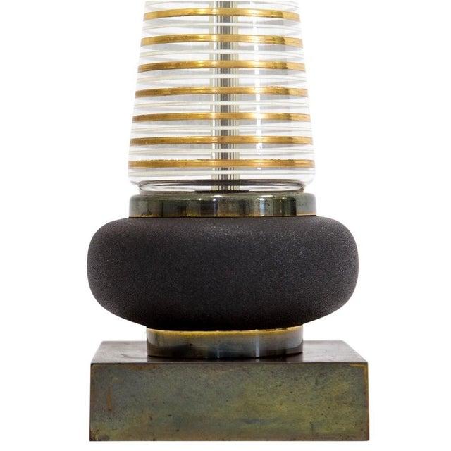 Mid Century Modern Glass Lamp - Image 4 of 8
