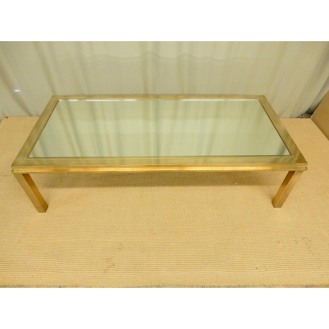 Elegantly Mirrored Mid Century Modern Coffee Table For Sale - Image 4 of 6