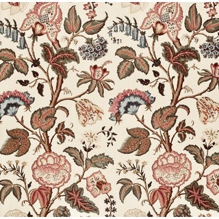 Boho Chic Schumacher Tree of Life Linen Designer Fabric by the Yard For Sale