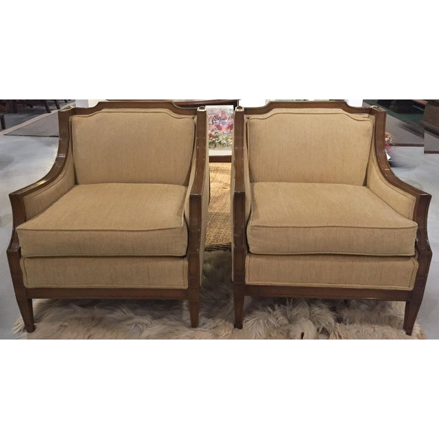 Mid-Century Regency, Transitional Style Club Chairs - a Pair - Image 4 of 8
