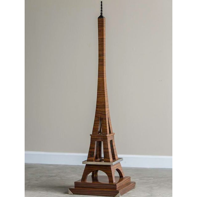 Art Deco Period Grand Scale Eiffel Tower of Rosewood, France c.1930 For Sale - Image 4 of 7
