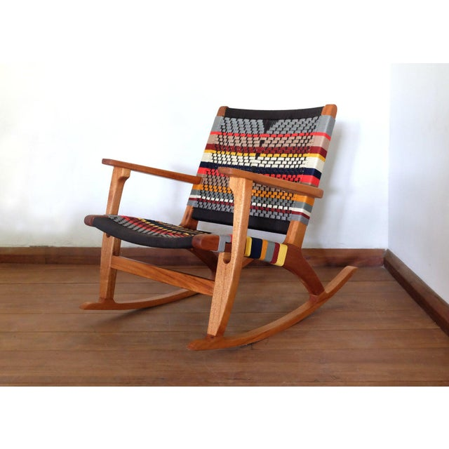 Masaya Mid Century Modern Rocking Chair For Sale - Image 4 of 8