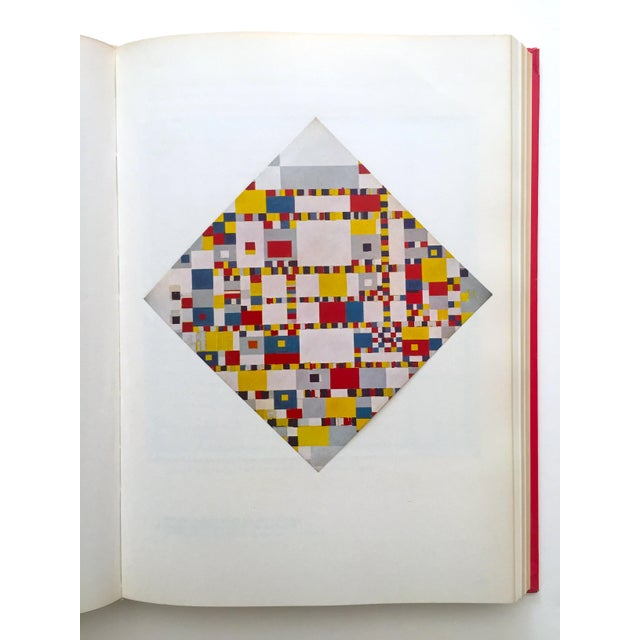 """"""" Piet Mondrian - Life and Work """" Rare Vintage 1956 1st Edtn Collector's Iconic Large Volume Lithograph Print Modernist Art Book For Sale - Image 9 of 13"""