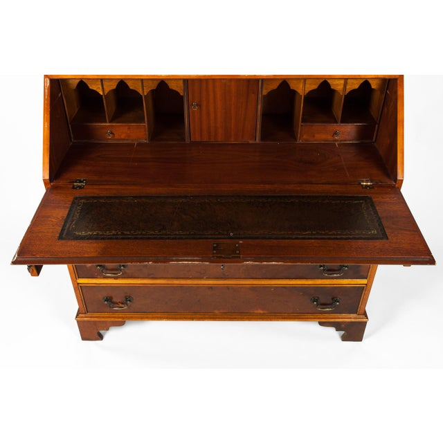 Early 19th Century Antique Mahogany Desk Front Hutch or Cabinet For Sale - Image 5 of 13