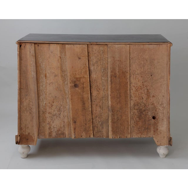Pine Antique English Country Painted Pine Chest of Drawers For Sale - Image 7 of 8