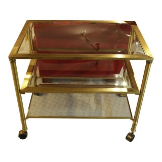 1970's Vintage Mid-Century Modern Bar Cart For Sale