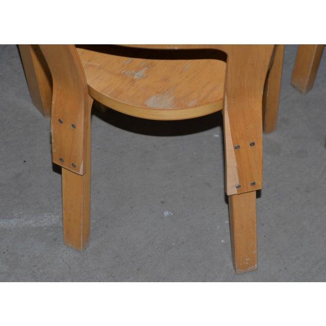 Danish Modern 1930s Vintage Alvar Aalto Children's Table & Chairs - Set of 4 For Sale - Image 3 of 9