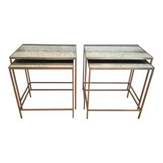 Ethan Allen Zachary Nesting End Tables - A Pair