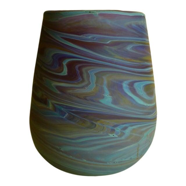 Mid Century Studio Art Glass Vase For Sale