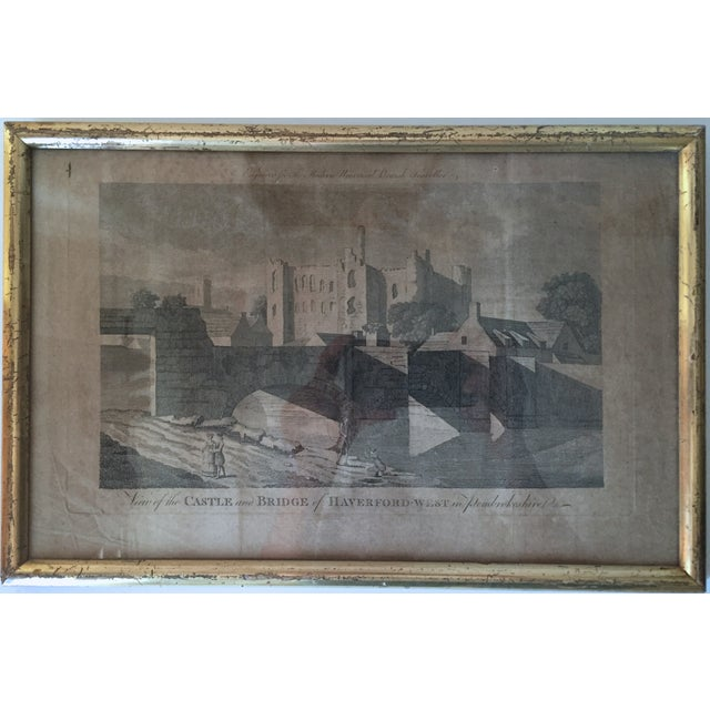 Antique Welsh Castles Engravings - Set of 3 - Image 6 of 7