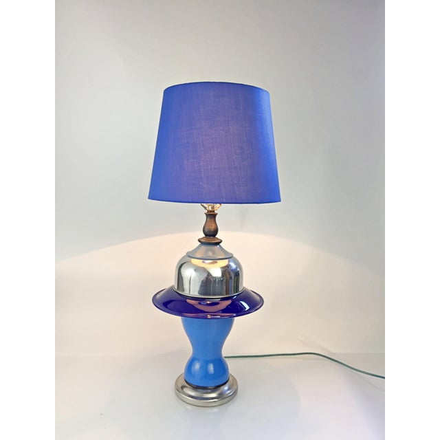 Table Lamp in Multiple Colors of Blue For Sale - Image 4 of 12