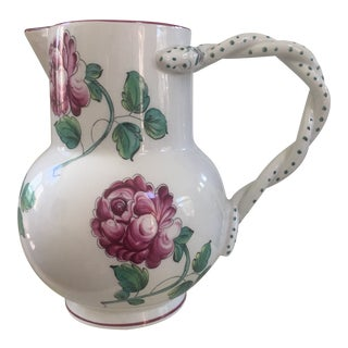 Tiffany & Co. Hand-Painted Pitcher For Sale