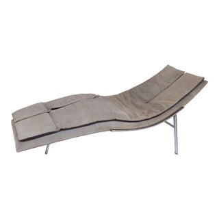 Saporiti Italia Chaise Lounge With Suede Upholstery For Sale