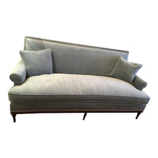 Lillian August Velvet Sofa For Sale