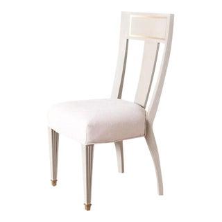 Gustavian Brass Detailed Side Chair
