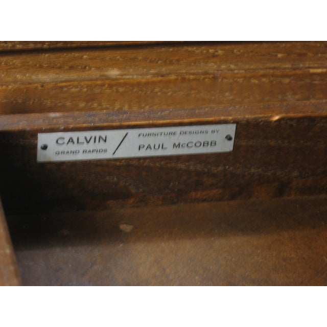 Paul McCobb Calvin Side Tables - a Pair, Storage Cabinets For Sale - Image 11 of 12