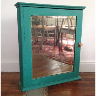 Teal Mirrored Medicine Cabinet, Storage Cabinet Preview