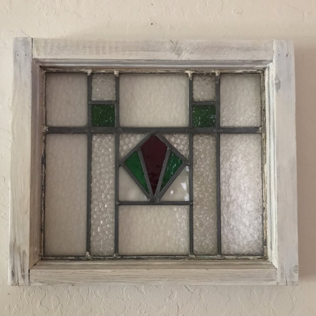 Antique Cottage Stained Glass Window - Image 2 of 9