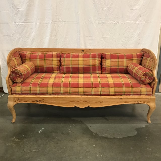 Swedish Pine Settee - Image 2 of 6