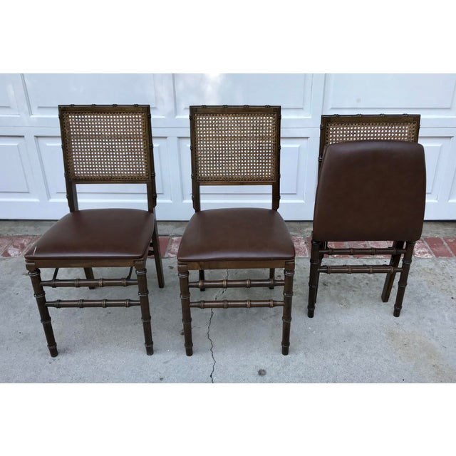 Vintage Bamboo Folding Chairs - Set of 3 - Image 2 of 6