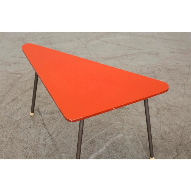 Retro Red Triangle Side Table - Image 8 of 11