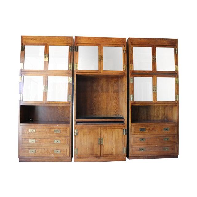 Henredon Scene 1 Campaign Cabinets - Image 1 of 5