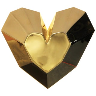 Brass Queen Heart Wall Lamp by Royal Stranger For Sale