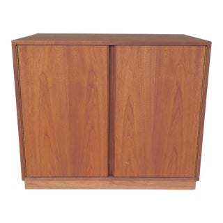 Danish Modern Style 2 Door Credenza Media Cabinet ( A )