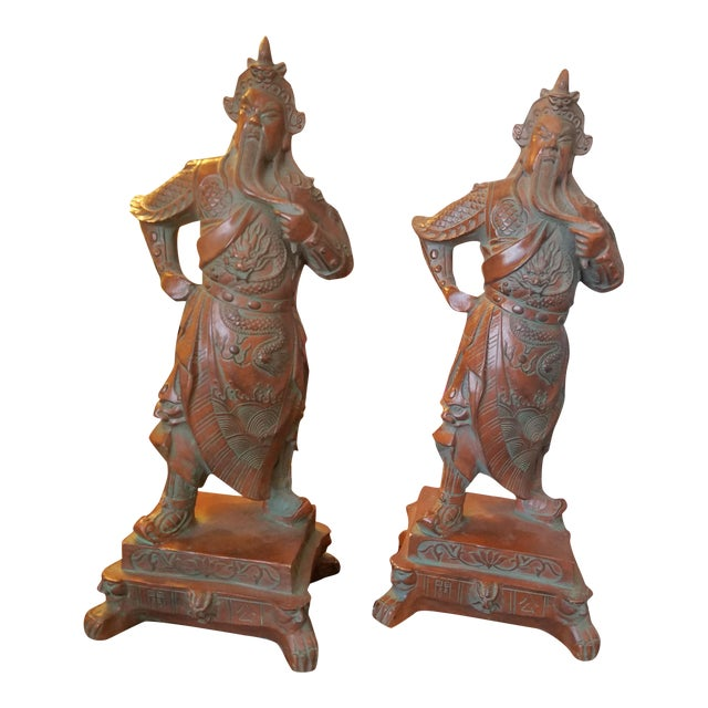 Chinese Warrior Figurines - A Pair - Image 1 of 7
