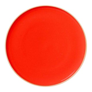 Contemporary 'Hermit' Plate in Coral Red by Middle Kingdom - Small
