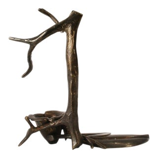 """Pair of Standing Tree Candleholders"" Sculpture by Robert Lee Morris, 1990s For Sale"