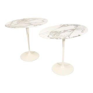 Pair of Saarinen Oval Side Table
