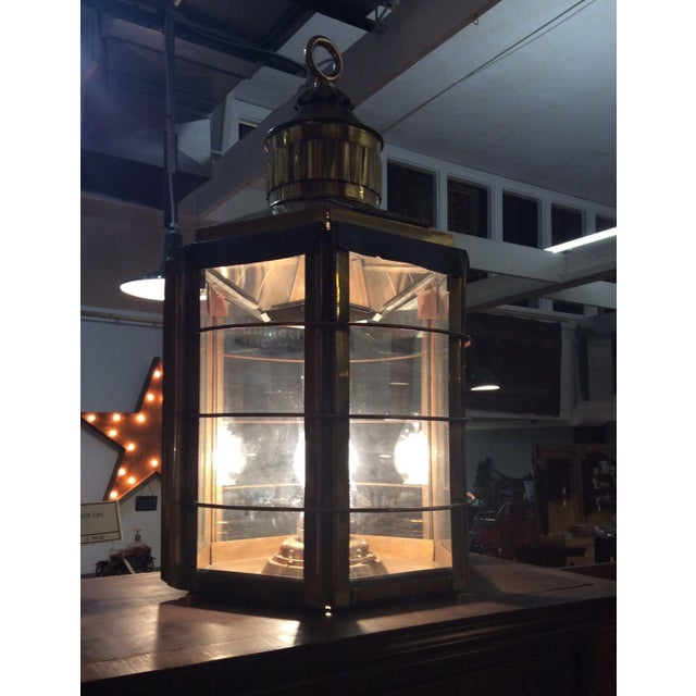 Industrial Antique Clipper Ship Lamp For Sale - Image 3 of 6
