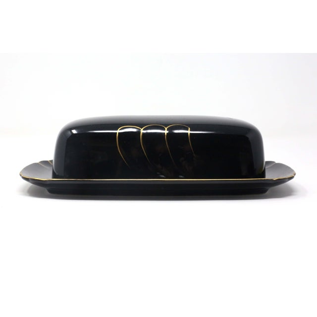 """Wave Golden Black"" Butter Dish by Ranmaru For Sale - Image 10 of 10"