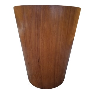 1960s Vintage Teak Servex Waste Basket For Sale